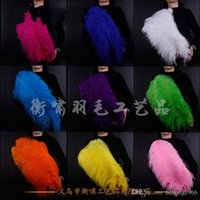 Wholesale beautiful dance dresses - Multi Color Big Ostrich Feathers Comfortable Dyeing Beautiful Feathers Fan For Wedding Hand Fancy Dress Dance Props 0 4hx R
