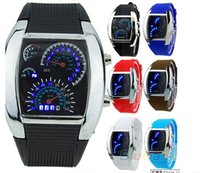 Wholesale Man S Wrist Watch - Wrist Men Silicone Alloy Sport Digital LED Date Watch Dashboard Analog Wrist Watches S-Shock Men's Luxury Quartz