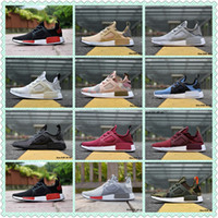 Wholesale Height C - 2017 Nmd Xr1 R1 Monochrome Mesh Triple White Black Men Shoe Women Running Shoes Sneakers Originals NMD Runner Primeknit Casual Shoes