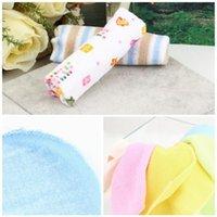 Wholesale Nursing Handkerchiefs - 8pcs set Baby Towel Cotton Saliva Towel Nursing Towel Feeding Wash Cloth Cute Handkerchief Baby Washcloth