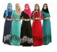 Wholesale muslim abaya clothing - Islamic Abaya Dresses Women Arab Ladies Caftan Kaftan Malaysia Abayas Dubai Turkish Ladies Clothing Women Muslim Dresses