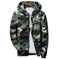 Wholesale Wholesale Polyester Hooded Jacket - Wholesale- 2017 Casual Thin Hooded Outerwear Camouflage Basic Summer Jackets Men