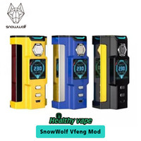 Wholesale Tier Boxes - Original SNOWWOLF VFENG 230W TC BOX MOD Top-tier Premiere Vape Device Vs Sigelei Kaos Box Mod