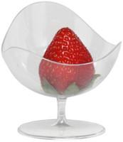Wholesale Transparent Plastic Eggs - Wholesale- Promotion - Party Suppliers, Disposable Plastic Tableware, Transparent 75*65*45mm Egg Shape Dessert Cup, 24 Pack