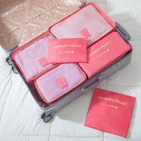 Wholesale Cheap Purse Sets - HOT Fashion 6 pcs set travel storage bag Cosmetic bag Organizer Pouch Tote Sundry Bag Home Storage Bags Travel Makeup Purse Handbag cheap