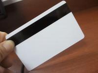 Wholesale Printable Plastics - Wholesale- 1000pcs lot printable Blank Plastic Hico magnetic stripe Card