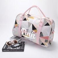 Wholesale Sport Duffle Bag Wholesale - VS PINK Letter Yoga Canvas Handbags Travel Bags LOVE Pink Duffle Shoulder Bags Fashion Fitness Beach Bags LC524