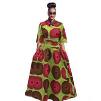 Wholesale Top Traditional Women - Traditional African Clothing 2017 Plus Size Sexy Printing Loose Women Tutu Skirt+Mid Sleeve Tops African Clothes