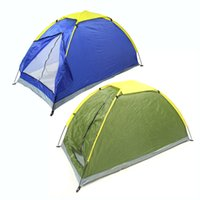 Wholesale Two Person Beach Tent - Waterproof Two Persons Camping Tents Beach Tent Outdoor Single Layer Tent Bedroom Fishing Tent With Carry Bag For Hiking Travel