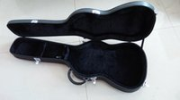 Wholesale Quality Guitar Cases - Wholesale ST guitars hardcase Top quality New style Black color and inside is the Golden Guitar Box