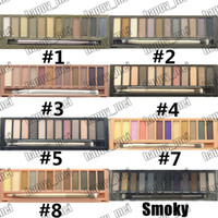 Wholesale new nude palette resale online - ePacket New Makeup Eyes Nude Smoky Palette Color Eye Shadow With Box and Brushes