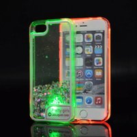 Wholesale Wholesale Xperia Play - Glitter Quicksand Case For Motorola MOTO Z2 PLAY MOTO G6 plus For Sony XperiaXA1 Running Liquid Dynamic soft TPU cover LED Light C