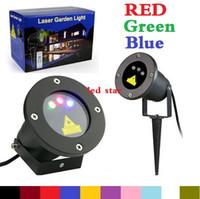лазерный свет светляк открытый оптовых-Открытый светодиодный проектор лазерные лучи (красный + зеленый + синий ) Светлячок Рождество лазерный проектор для сада AC 110-240V + пульт дистанционного управления