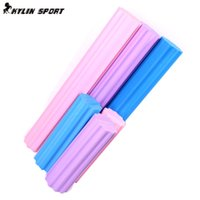 Wholesale Yoga Blocks Sale - Wholesale-2015 Hot Sale Top 45cm Foam Roller Plum-shaped Solid Yoga Column Massage To Relax Stretching Fitness Bar