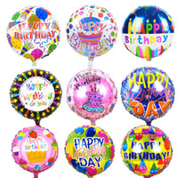 Wholesale Ballons Decorations - 10pcs 18 inches Globos Happy Birthday Foil Balloons Children Birthday Inflatable Toys Ballons Helium Balloon Party Decoration