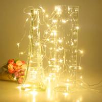 luzes feericamente da caixa de bateria venda por atacado-Atacado-6m 60 LED Fio De Cobre Luz Da Corda Fada Lâmpada 3AA Caixa De Bateria Com Festa De Casamento De Controle Remoto Festivais Decoração