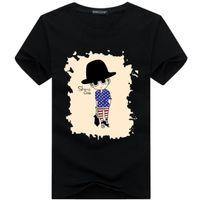 Wholesale Painting Orange - 2017 Wholesale tee clothing Men's T-Shirts 3D painting hip hop clothing mens designer shirts plus size black white
