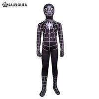 costumes spiderman zentai achat en gros de-2017 Enfants Costume d'Halloween Costume d'Halloween Costume d'Halloween Enfants Lycra Spandex Zentai Bodysuit Enfant Superhero Spider-Man Costume