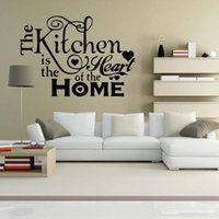 Murals PVC Nature For Kitchen Heart Home Quote Wall Stickers Funny Art Dining Room Removable
