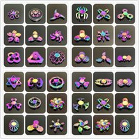 Wholesale Gyro Spinning Top - 48 types Fidget spinner toys Rainbow Tri-Fidget Metal Hand Colorful EDC Gyro Toys HandSpinner Aluminum spinners finger top spinning 100