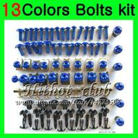 kit de tornillos gsxr al por mayor-Kit completo de tornillos de carenado Para SUZUKI GSXR600 GSXR750 06 07 GSXR 600 750 K6 GSX R600 R750 2006 2007 Tuercas de cuerpo tornillos tuercas kit de tornillos 13Colores