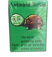 Wholesale new kids board games - New Arrival Humor Classic Board Game Word Guessing Game Awkward Turtle - The Adult Funny Party Word Card Game CCA8309 120pcs