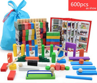 Wholesale Domino Wholesale - Dominoes 600pcs domino | color International Standards Pine production |wooden toys kid toy DHL free shipping