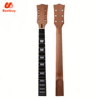 Wholesale guitar bindings online - 22 Fret Guitar Neck open sattin LP Mahogany Rosewood fingerboard sector and binding Inlay for LP Electric guitar neck replacement