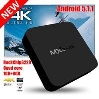 Wholesale Dhl Free Shipping Hdmi - 2017 fully loaded Stream 4K TV Box Quad core WiFi Lan Smart Rockchip RK3229 Android Ott TV Box MXQ 4K DHL Free Shipping