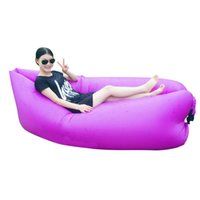 Wholesale Outdoor Portable Beach Lazy Fold Fast Inflatable Sofa Bed Air Sofa Sleeping Camping Lounge Bag Mat Three Size Hot Selling