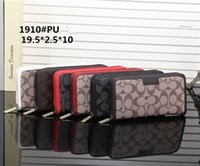 Wholesale Cheap Cell Phone Wallets - Hot! wholesale 2017 M famous brand fashion single zipper cheap luxury women pu leather wallet lady ladies woman long purseh1910