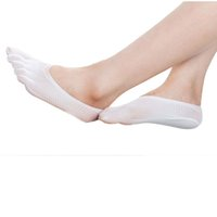 Wholesale Toe Finger Socks For Women - Wholesale-Moodeosa 2016 New Arrival 5 colors Fashion summer Five Toe Sock Slippers Invisibility For Solid Color Socks Five Finger Socks