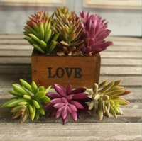 Wholesale Wholesale Decorations Etc - Cute Artificial succulent plant Flower branch for Birthday Wedding Party home Decoration craft DIY favor baby shower etc