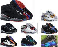 Wholesale High Boot Sneakers Men - ship BOX 2017 air retro 8 VIII Basketball Shoes men high quality Sneakers Cheap Retro VIII Aqua retro 8 Sports Boots Free Shipping