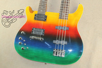 Wholesale Double Neck Left Hand - factory sells New alien double neck Left handed 6 string electric guitar + 4 string electrical bass colour body