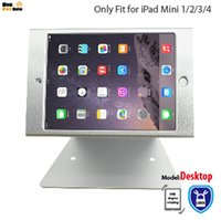 ipad locking оптовых-Для iPad mini 1 2 3 4 держатель рабочего стола безопасности держатель стенд для киоска POS безопасный с замком магазин поддержка кассы дисплей