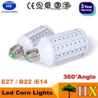 High Power 20W 25W 30W Led Corn Lights SMD 5730 E27 E14 B15 B22 Dimmable Led Bulbs Pendant Lighting 360 Angle AC 110-240V