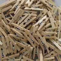 Wholesale 50x Mini Wooden Natural Pegs Pack Of Small Favour Wedding Party Natural Clip