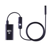 endoscópio hd wifi venda por atacado-1 M 2 M 3.5 M 5 M Sem Fio Wi-fi Endoscópio HD 720 P Câmera IP P2P 8mm 6LED Cabo Endoscópio Câmera de Inspeção À Prova D 'Água