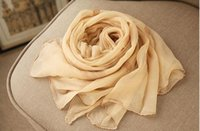 Wholesale Thin Silk Scarves - 195cm*105cm ultra long size real silk crepe scarf long scarf thin and soft embroidery