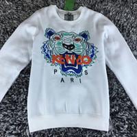 Wholesale Hottest Men S Sweater Fashion - Hot Sale free shipping 2018 winter women fashion Men Women Embroidered tiger sweater brand women men hoodie Sweatshirts KENZ Fleece