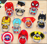 Wholesale Rings For Top Fingers - Universal 360 Degree Super Hero Superman Spiderman Finger Ring Holder Phone Stander for iphone 6s 7 samsung s7 s8 ipad huawei spinner top