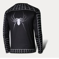 spiderman adult shirt - Halloween Clothing Cosplay Costumes Long Sleeves Round Neck T Shirt Man Clothing Men s Spiderman T Shirts Adult Theme Costume