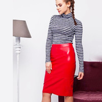 Wholesale Cheap Leather Skirts - Cheap Short Daily Dress Casual Wear For Sexy Young Ladies Sheath Leather Skirt Club Dress In Stock