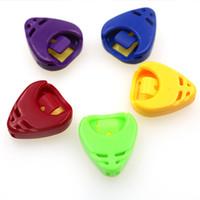 Wholesale Hollow Guitar Case - Plastic Guitar Pick Plectrum Holder Case Portable Hollow Heart Shape
