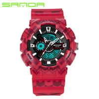 Wholesale Dive Watch Men For Military - 2017 SANDA Military Watch Men Waterproof Sport Watch For Mens Watches Top Brand Luxury Clock Camping Dive relogio masculino 999