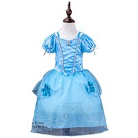 Wholesale Autumn Suspender Dress - Princess Girl's Sleeping Dresses 9 Styles Beauty Sofia Rapunzel Snow White Cinderella Belle Princess Party Costume Dress