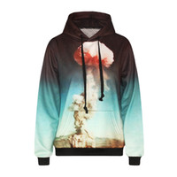 Wholesale Slimming Bomb - Fashion 3d print atomic bomb explode painting boys girls cool lace causal sweatshirt high quality smooth material clothes