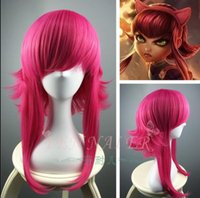 Wholesale Ponytails Red Long - League of Legends LOL Heat Resistance Medium Long Red Synthetic Hair For Annie Straight Cosplay Party Reflex Action Wigs