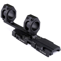 Wholesale Tactical Cantilever - Tactical Heavy Duty Rifle Scope Mount Quick Detach Cantilever Scope Ring Mount 25mm-30mm Dual Ring 20mm Rail Auto Lock